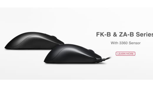 『ZOWIE』ゲーミングマウス「FK-B」「ZA-B」登場、3360センサー搭載のブラックモデル