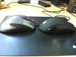 ZOWIE EC1 Black と Microsoft IntelliMouse Explorer 3.0 (左側面)